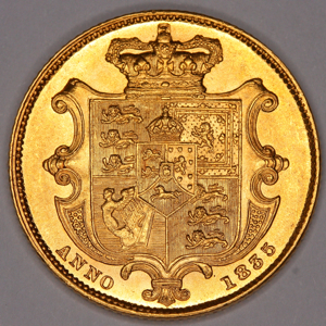 1835 William IV Sovereign Uncirculated Grade