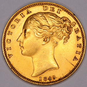 1849 Victoria Sovereign Uncirculated Grade