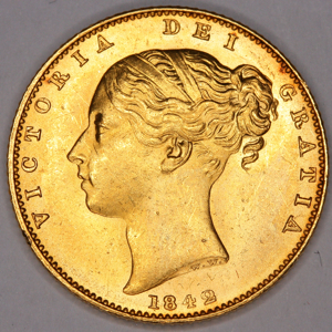 1842 Victoria Sovereign Uncirculated Grade
