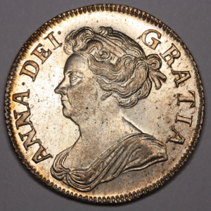 1708 Anne Shilling Uncirculated Grade