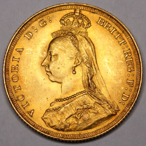 1887 Victoria Jubilee Head Sovereign Uncirculated Grade