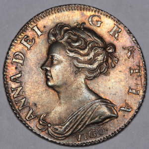 1703 Anne Shilling Uncirculated Grade. PCGS Mint State 63