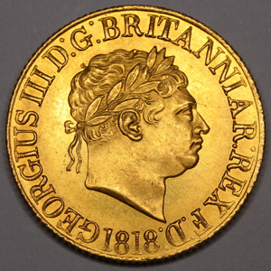 1818 George III sovereign Uncirculated Grade