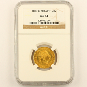 1817 George III sovereign Uncirculated Grade. NGC MS64