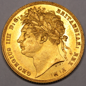 1821 George IV Sovereign Practically uncirculated grade