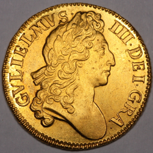 1700 William III Guinea Practically Uncirculated Grade