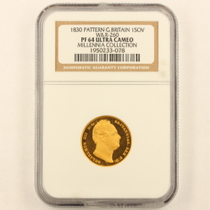 1830 William IV Proof Sovereign Uncirculated Grade. NGC Proof 64