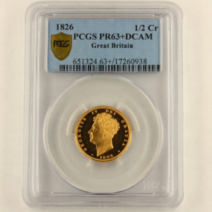1826 George IV Proof Sovereign PCGS - Proof 63+