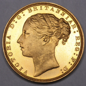 1871 Victoria Sovereign FDC Uncirculated. PCGS - PR65 DCAM