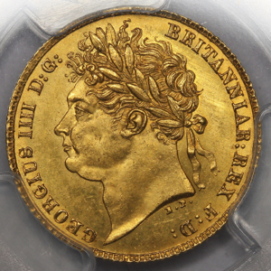1821 George IV Half Sovereign Uncirculated Grade. PCGS - MS64