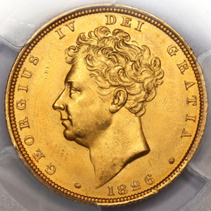 1826 George IV Sovereign Choice uncirculated Grade. PCGS - MS64