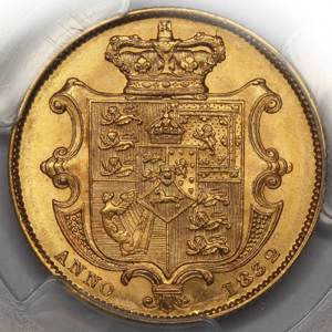 1832 William IV Sovereign Uncirculated Grade. PCGS - MS63