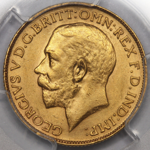 1924 George V Sovereign PCGS - MS62