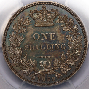 1839 Victoria Proof Shilling Choice Uncirculated. PCGS - PR64
