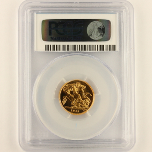 1911 George V Half Sovereign FDC. PCGS - Proof 66 CAM
