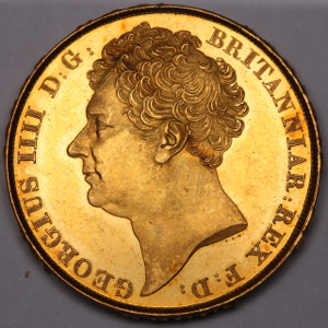 1823 George IV Two Pounds Practically uncirculated. PCGS - MS62+