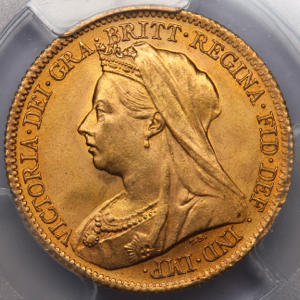 1900 Victoria Old Head Half Sovereign Choice Uncirculated. PCGS - MS64+