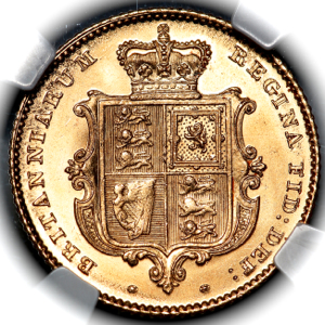 1846 Victoria Half Sovereign Choice Uncirculated. PCGS - MS64