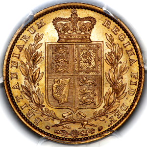 1848 Victoria Sovereign Choice Uncirculated. PCGS - MS64+