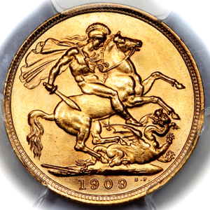 1904 Edward VII Sovereign Choice Uncirculated. PCGS - MS64