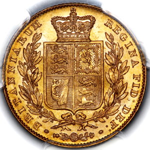 1846 Victoria Sovereign Brilliant Uncirculated. PCGS - MS65