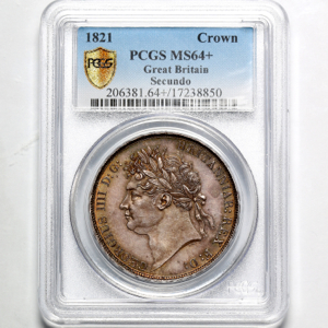 1821 George IV Crown Choice Uncirculated. PCGS - MS64+