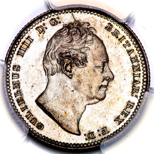 1835 William IV Shilling Choice Uncirculated. PCGS - MS64