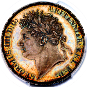 1821 George IV Crown Choice Uncirculated. PCGS - MS64