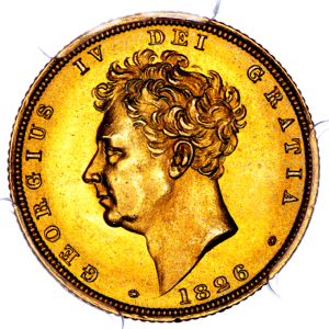 1826 George IV sovereign Brilliant Uncirculated. PCGS - MS65