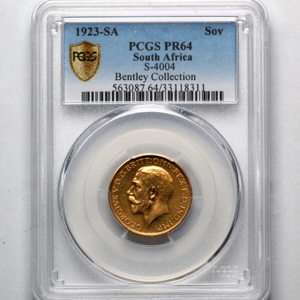 1923 George V Proof Sovereign PCGS - PR64