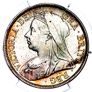 1896 Victoria Old Head Halfcrown Practically FDC. PCGS - MS66