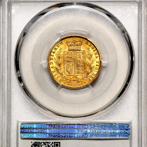 1858 Victoria Sovereign Choice uncirculated grade. PCGS - MS64