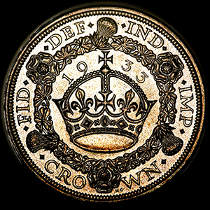 1933 George V Crown Brilliant uncirculated. PCGS - MS65
