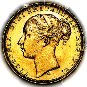 1879 Victoria Sovereign Uncirculated. PCGS - MS63