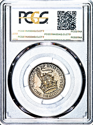 1936 George V Proof Shilling Practically FDC. PCGS - PR66
