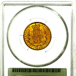 1852 Victoria Sovereign Choice Uncirculated. PCGS - MS64