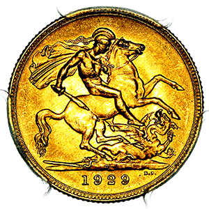 1929 George V Sovereign