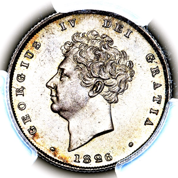 1826 George IV Shilling Choice uncirculated. PCGS - MS64