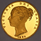 1839 QUEEN VICTORIA PROOF GOLD SOVEREIGN