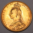 1887 M QUEEN VICTORIA  MELBOURNE MINT SOVEREIGN COIN