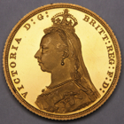 1887 QUEEN VICTORIA PROOF GOLD SOVEREIGN COIN