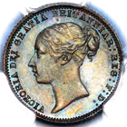 1876 Queen Victoria Sixpence