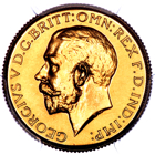 1923 SA George V South Africa Proof Sovereign