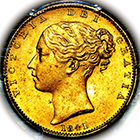1841 Queen Victoria Sovereign