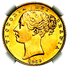 1859 Queen Victoria Ansell Sovereign