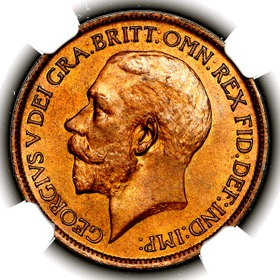 1922 George V Halfpenny